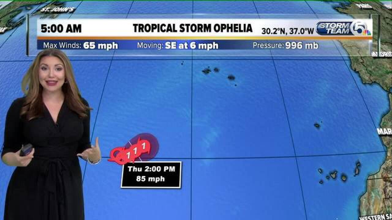 Wednesday's Weather Word: Ophelia