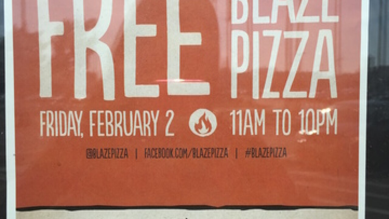 New Blaze Pizza offering free pizza