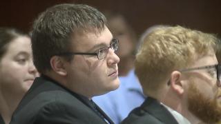 John Austin Hopkins in court