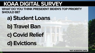 KOAA Digital Survey: What do you think is President Biden's top priority?