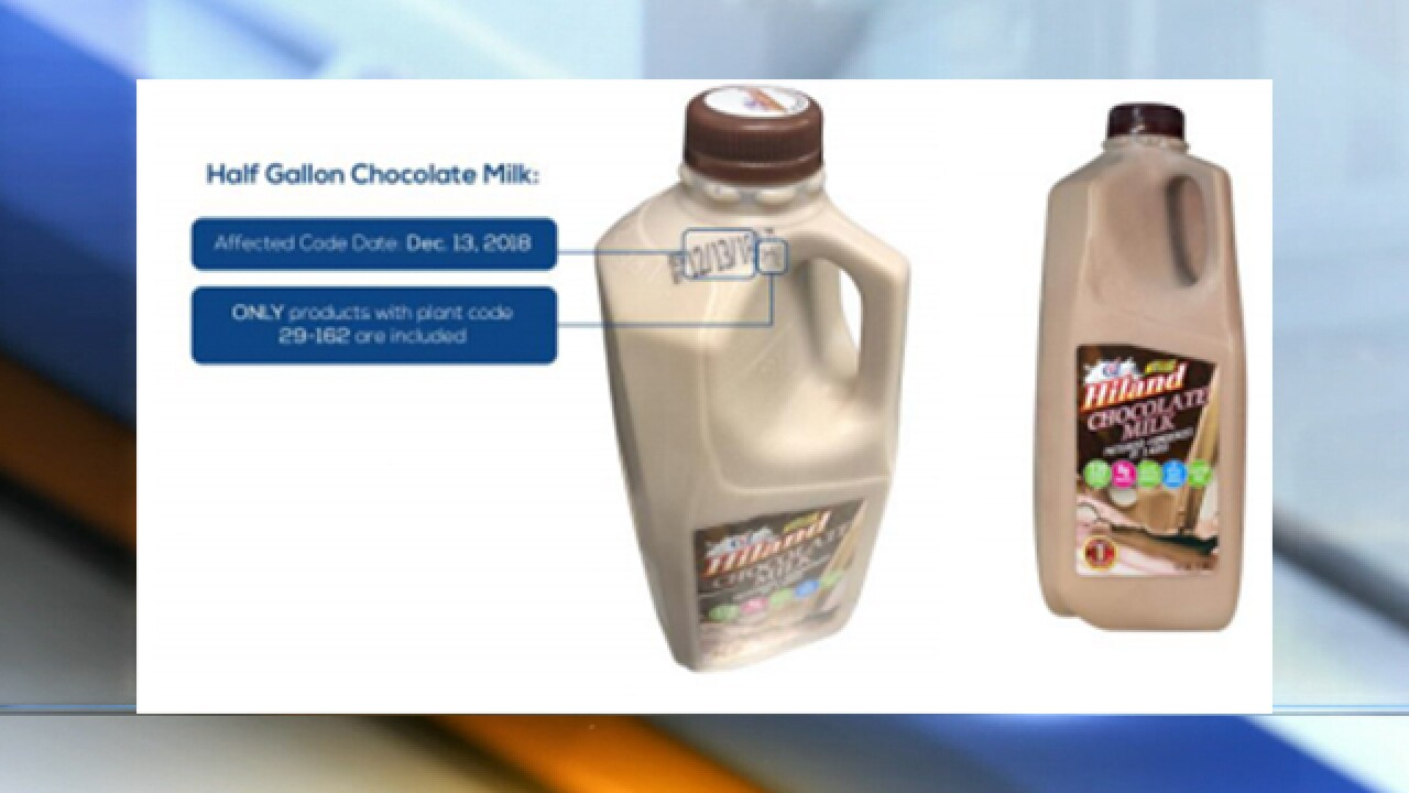 Hiland Dairy recalls milk product for egg contamination
