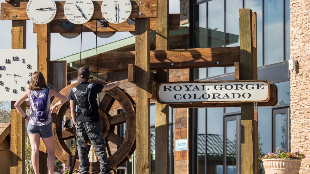 Royal Gorge Bridge Water Clock