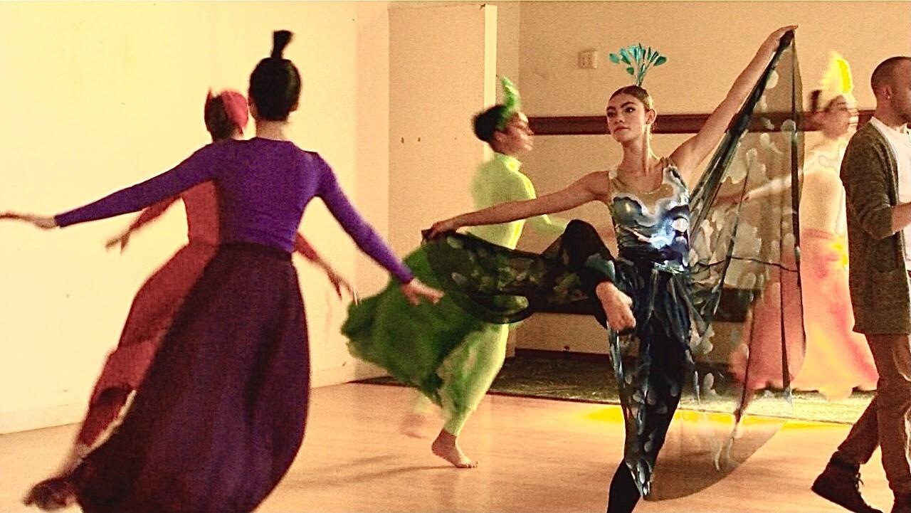 Ballerinas practice