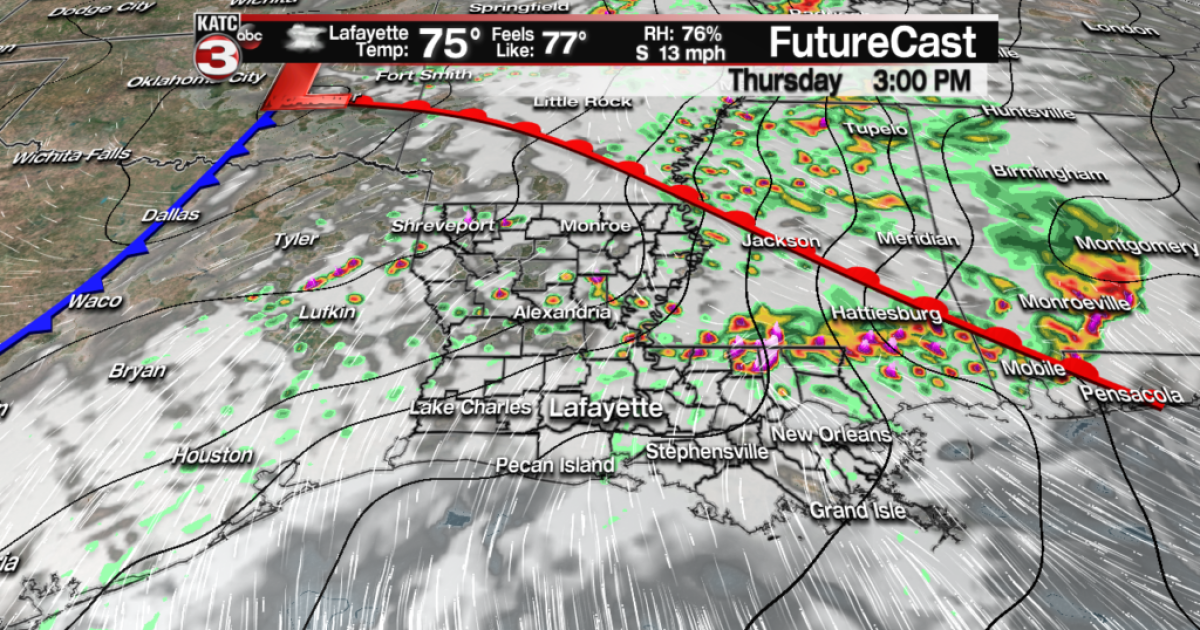 Dry Wednesday followed by scattered storms Thursday