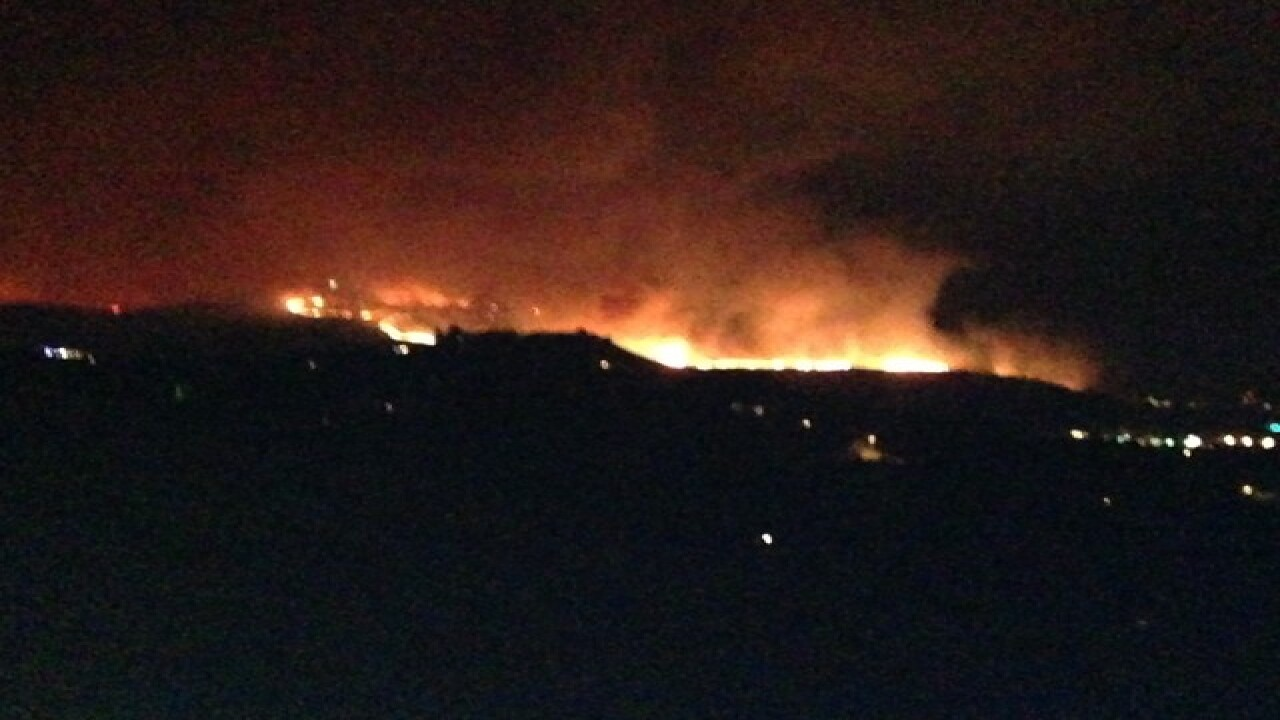 Crews fighting fire near Table Rock