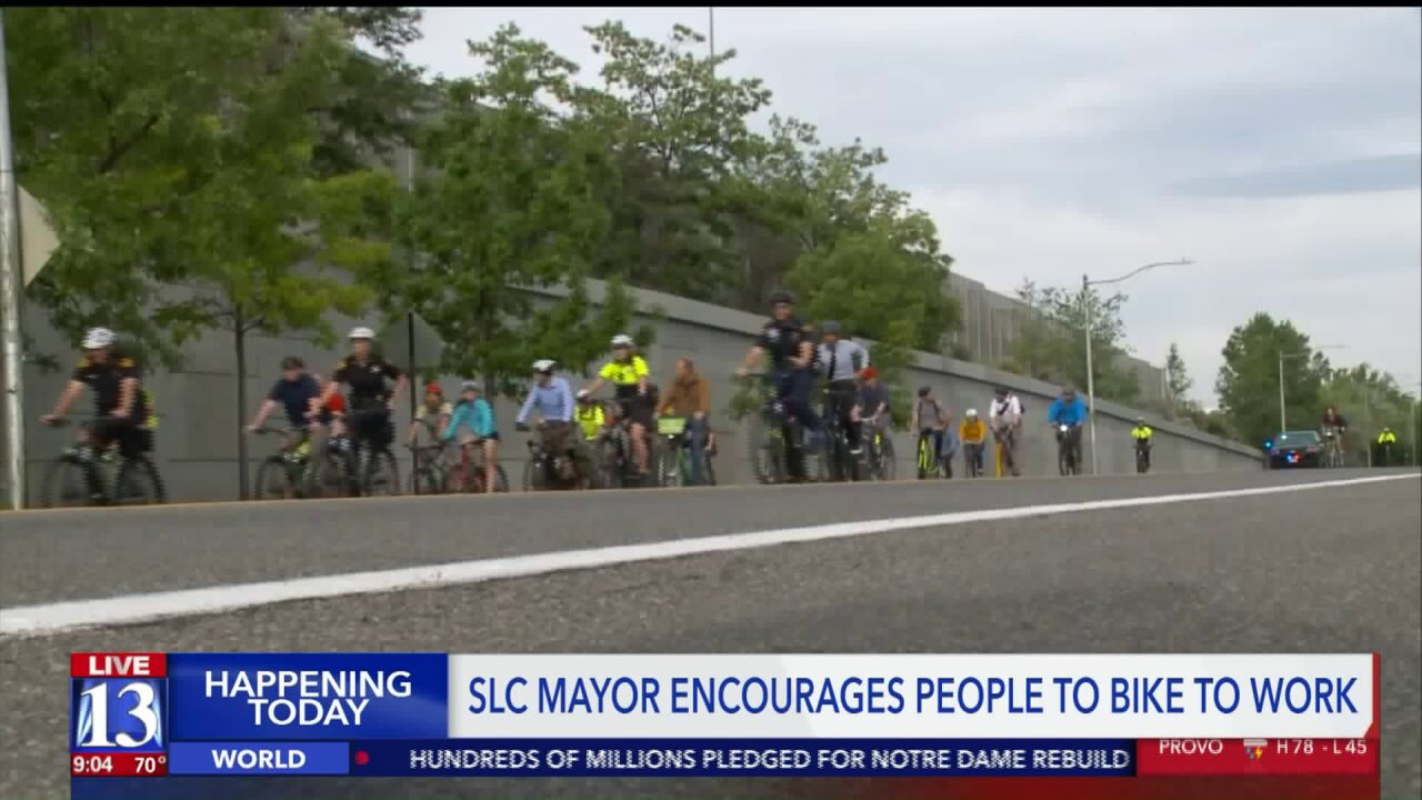 Mayor Biskupski promotes cycling with annual Bike to Work Day