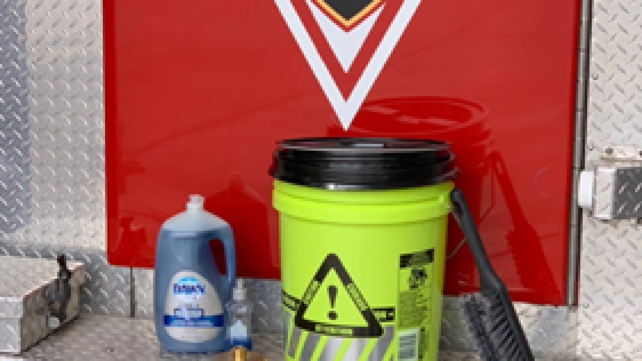Fire safety wash kits