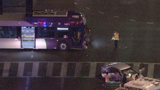 Car, bus collide near 35th avenue and dunlap