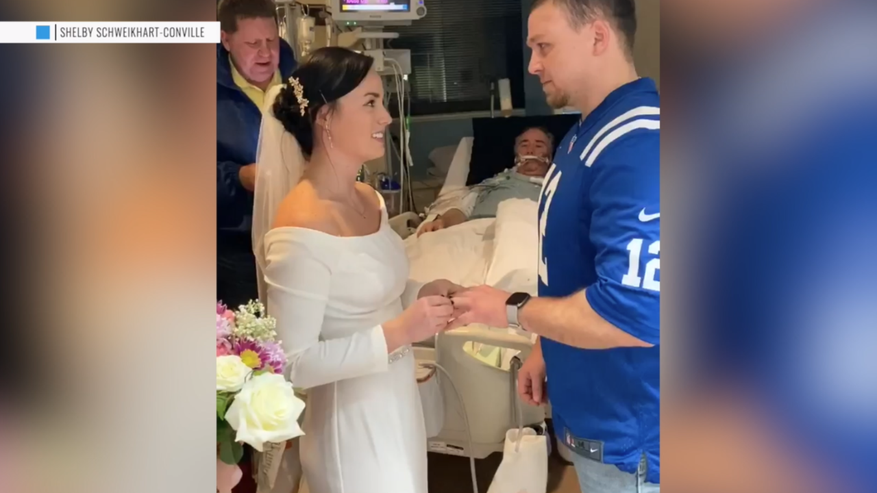 Bride brings wedding to dying dad's hospital room after learning he won't make it to ceremony