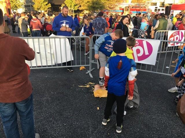 PHOTOS: Smiley Morning Show's annual pumpkin drop