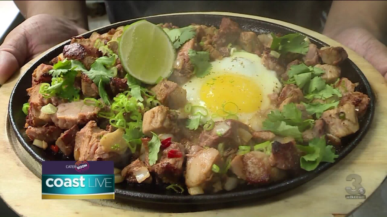 Preparing a non-traditional version of a Filipino dish on CoastLive