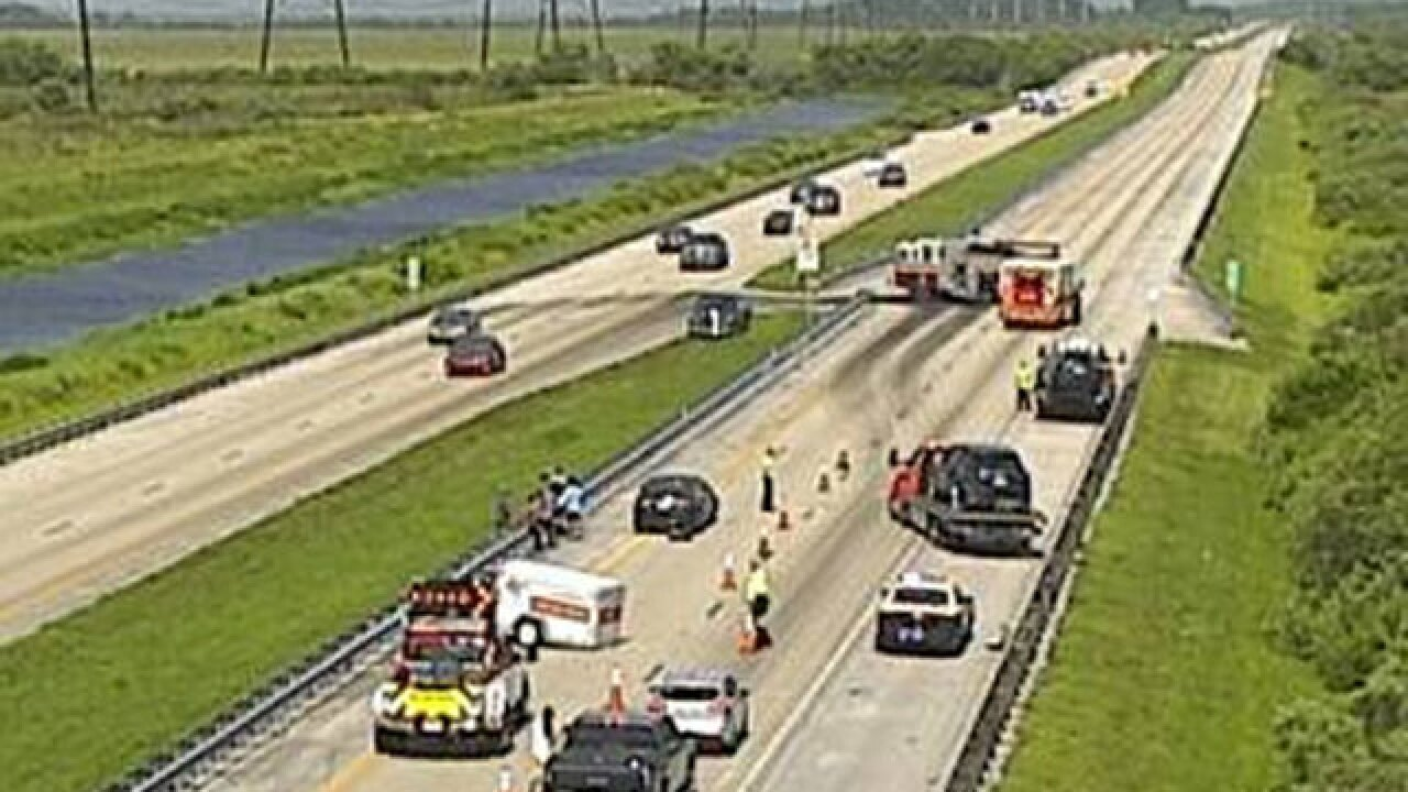 Turnpike SB lanes closed in Indian River Co.