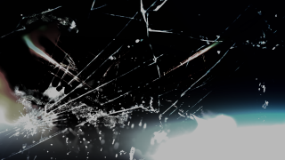 Cracked Accident Glass