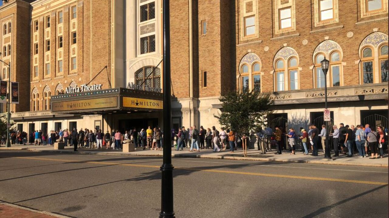 Hundreds wait in line wrapped around the block for shot at HAMILTON tickets
