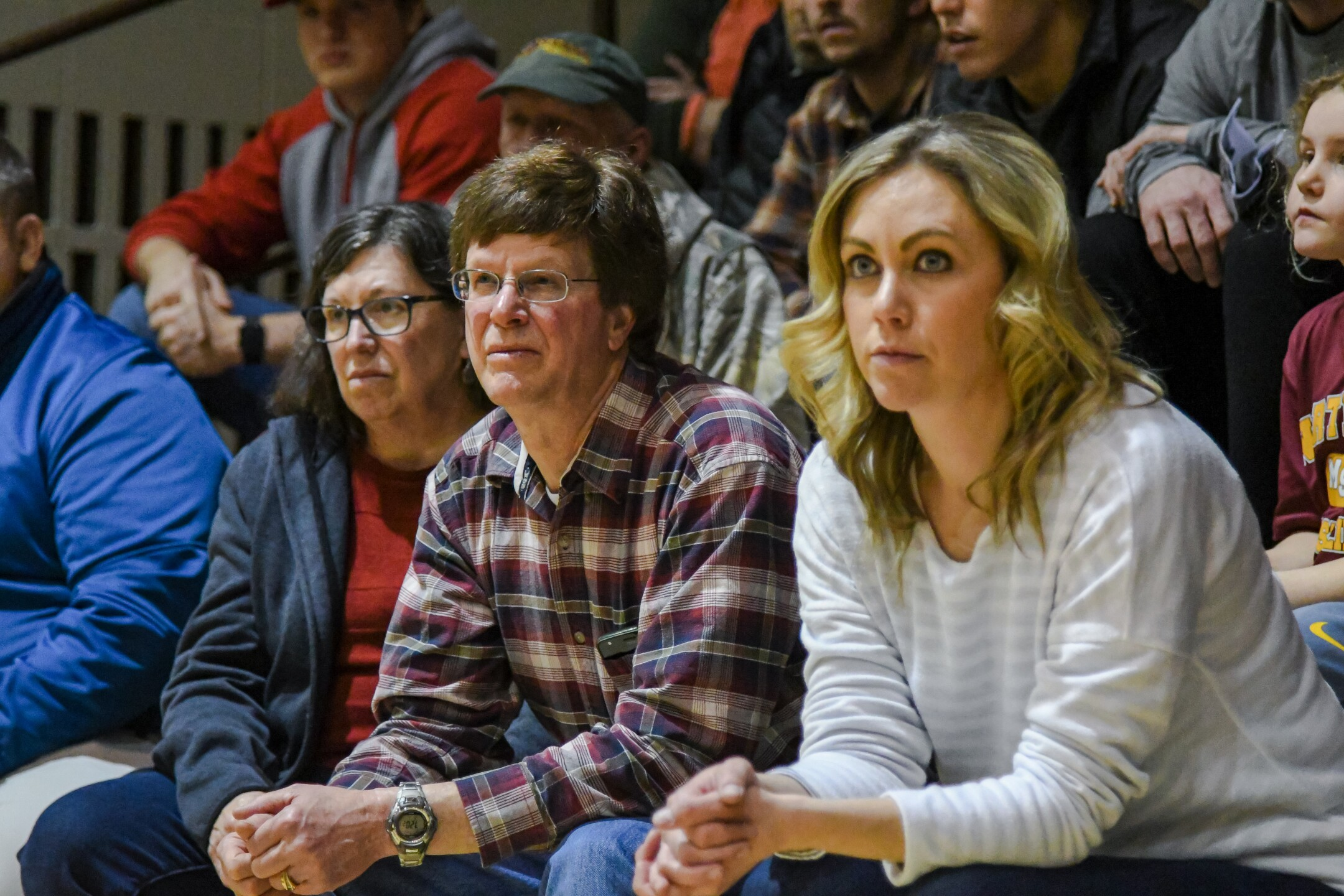 Fans watch MSU-Northern's dual against the University of Provide