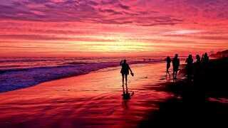 June 29 sunset