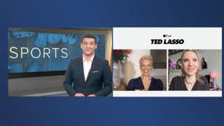 'Ted Lasso' stars Hannah Waddingham and Juno Temple talked with WXYZ's Brad Galli about the success of the hit show
