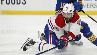 FILE Mathieu Perreault Canadiens Sabres Hockey