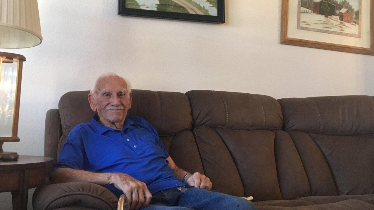 Dean Whitaker is a World War II veteran, who earned a purple heart.