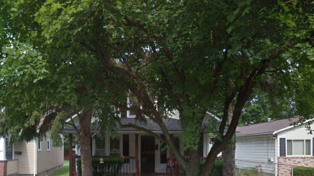 616 Chittenden Avenue in Akron, where a 40-year-old woman died. Google maps.