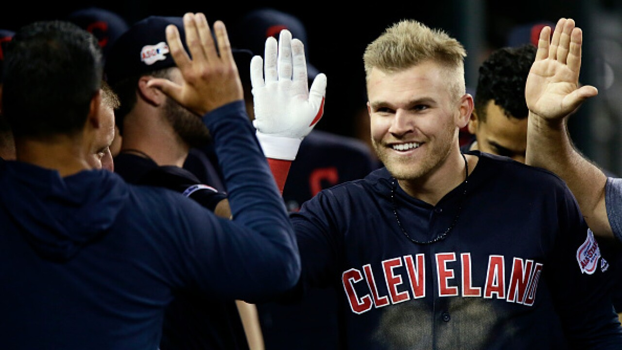Bauers hits cycle as Tribe thump Tigers 14-3