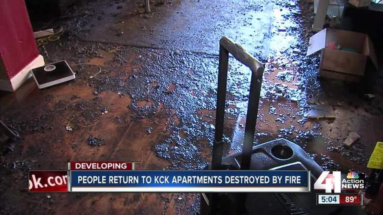 Survivors take stock after KCK apartment blaze