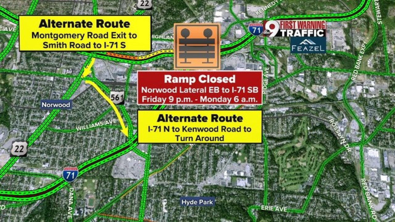 Road work to close Norwood Lateral ramp to I-71S