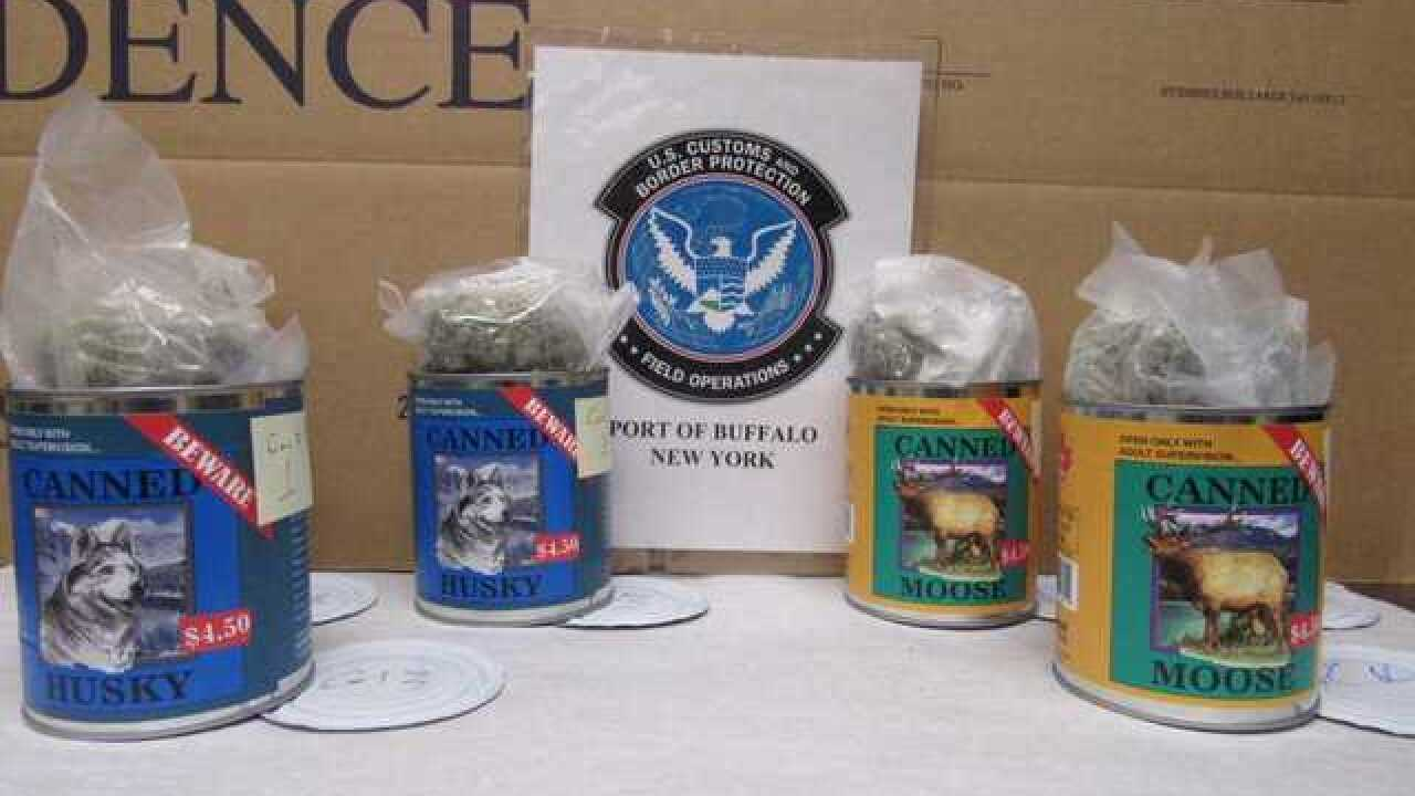 "CBP finds pot hidden in ""canned meat"""