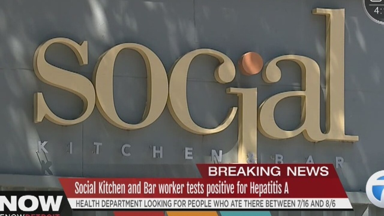 Restaurant worker diagnosed with Hepatitis A