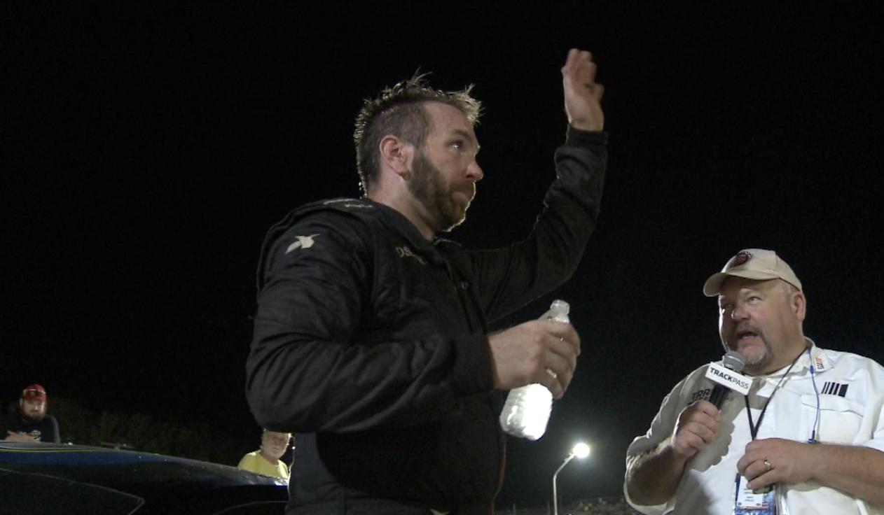 Josh Frye celebrates feature win