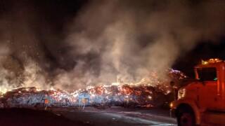 plains refuse site fire