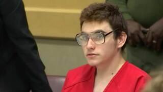 Nikolas Cruz in court for a hearing April 5, 2019.
