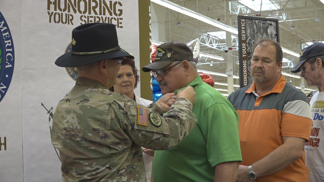 Vietnam veterans receive lapel pins