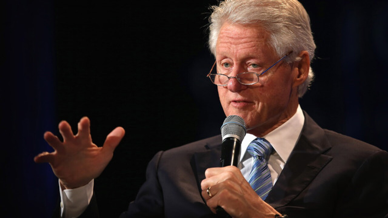 Former President Bill Clinton attending Metro Detroit Labor Day Parade on Monday