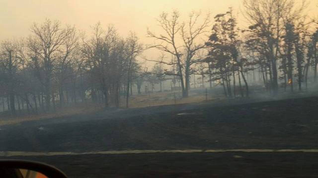 Wildfires spread across Green Country