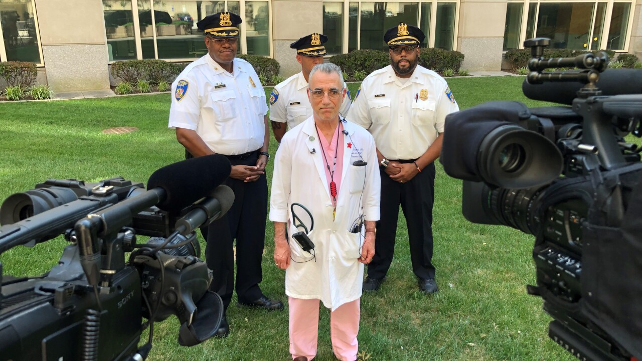 BPD command staff and Shock Trauma physicians speak out on Sgt. Shiflett's release from the hospital.jpg