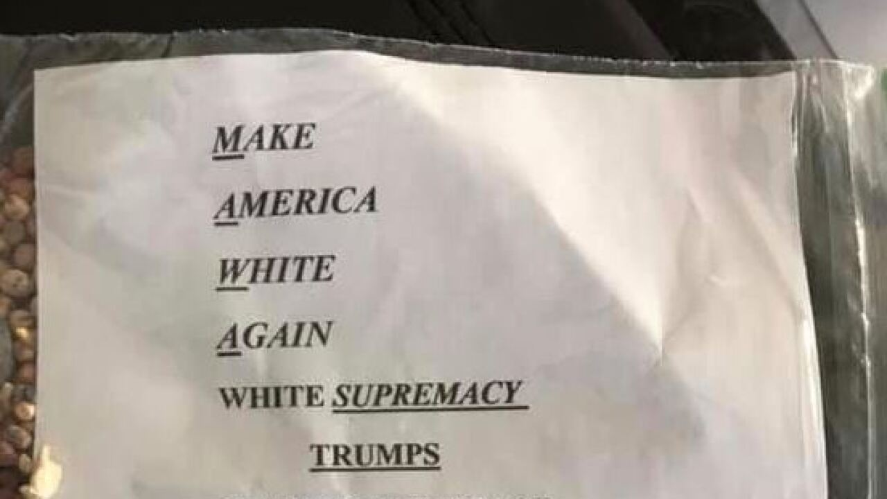 Ziplock bags filled with hate propaganda, KKK recruiting material found on EasternShore