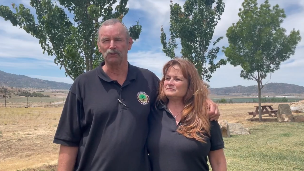 Michele and Mike with Dorner Family Vineyards