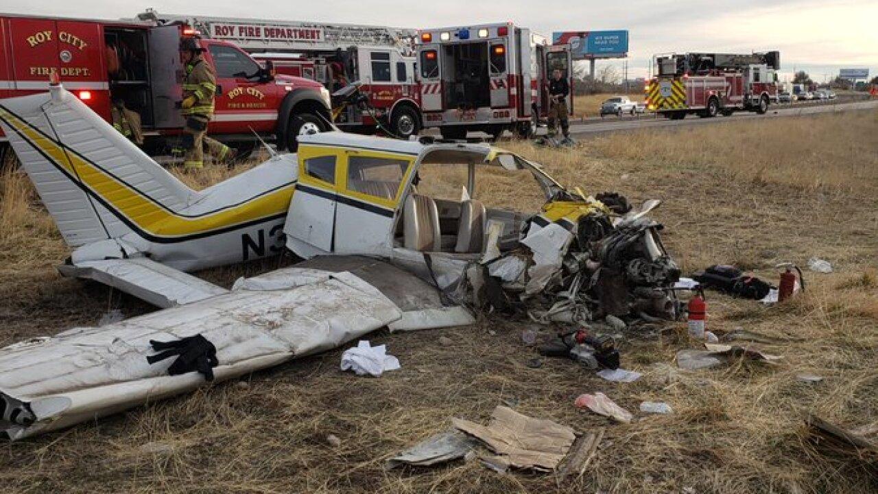 Two injured in Roy planecrash