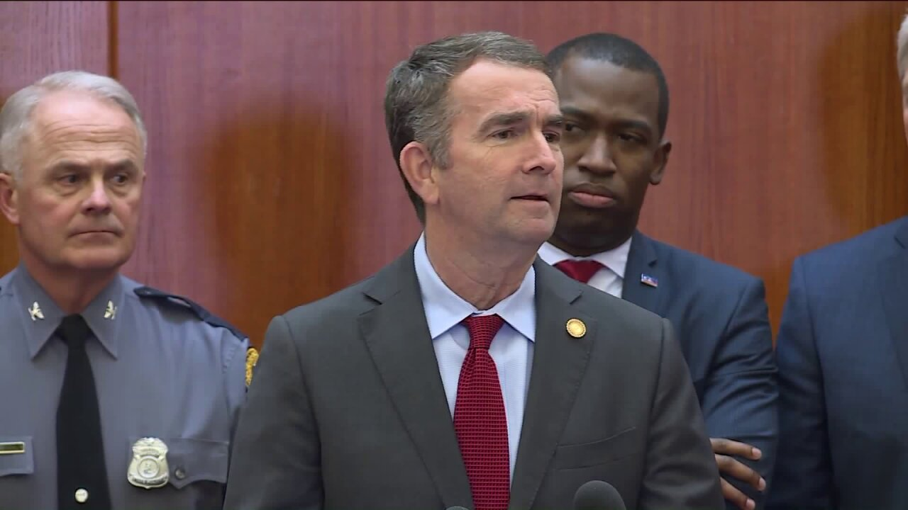 Governor says 'credible, serious threats' prompted temporary Virginia Capitol gun ban