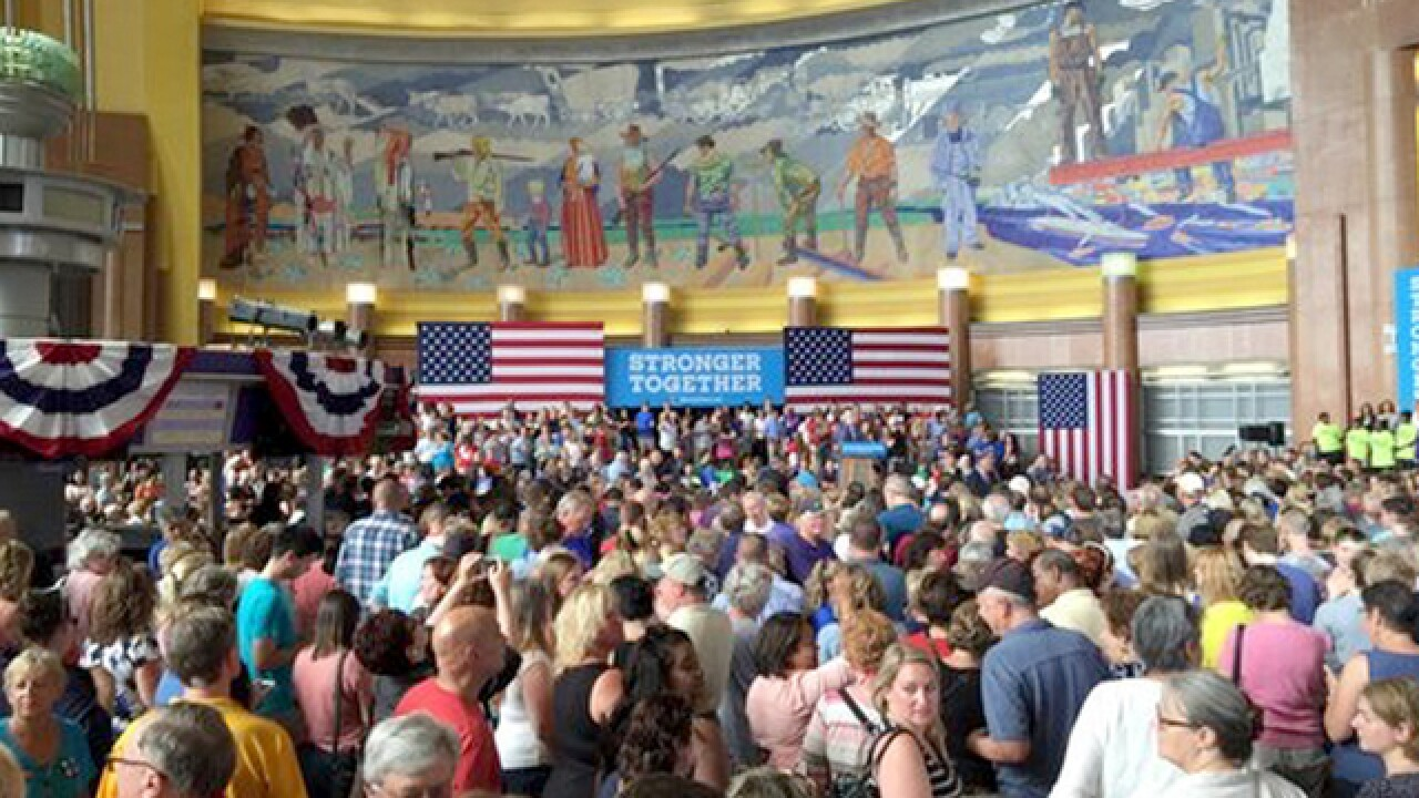 RECAP: Hillary Clinton, Elizabeth Warren campaign at Union Terminal