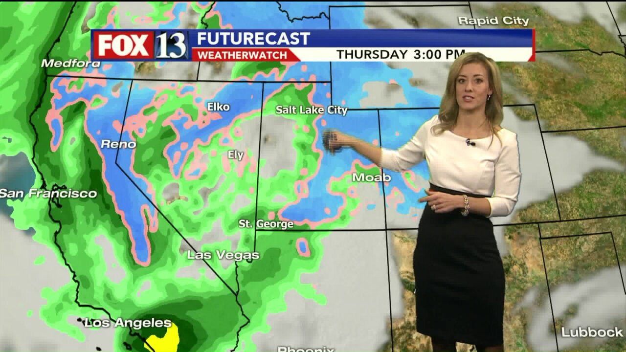 Winter weather advisory to take effect in Southern Utah, with storm moving to other parts of thestate