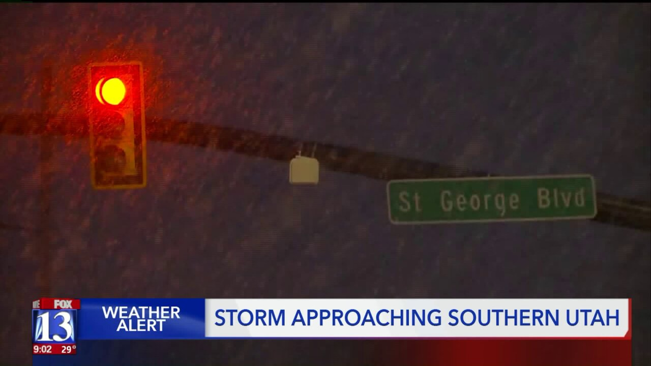 Rare winter storm heads for St. George