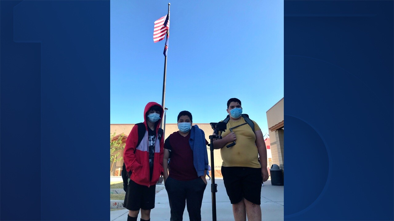 Buckeye students raise US flag every morning while custodian is injured
