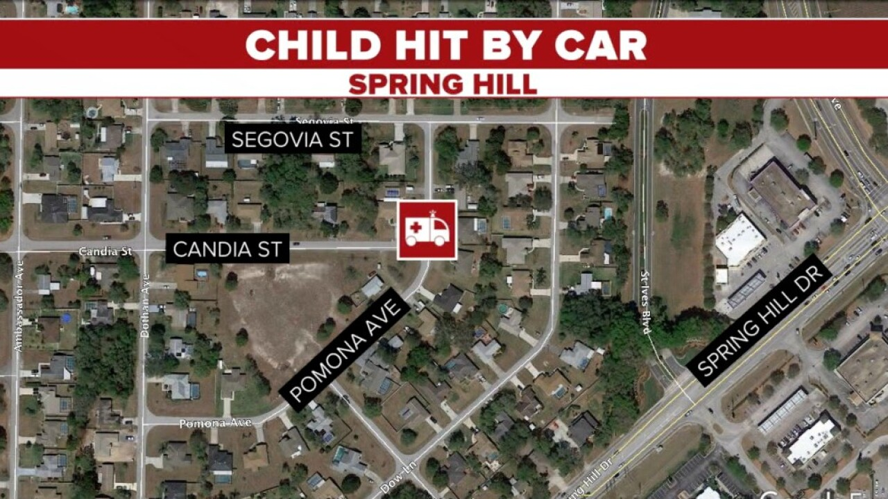 child hit by car map
