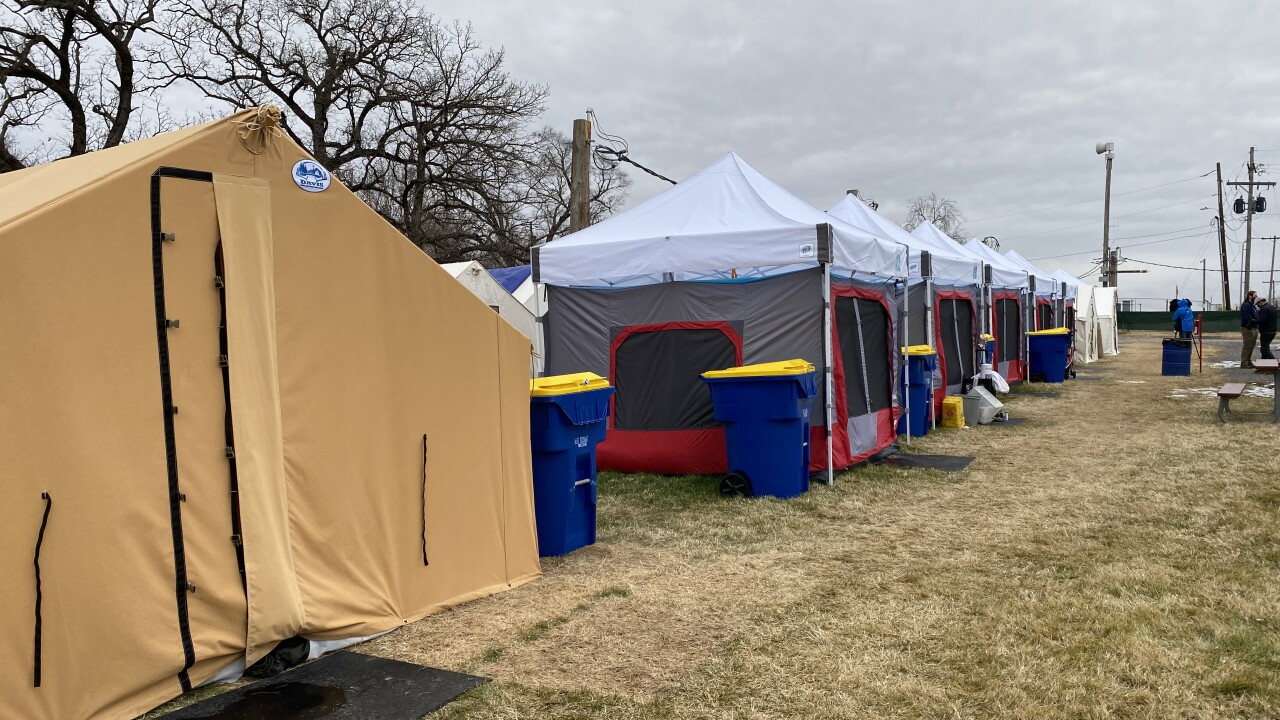 Camp Woody for homeless