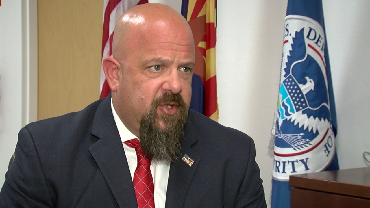 Homeland Security Special Agent in Charge Scott Brown investigates human trafficking and human smuggling.
