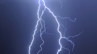 A man survives after he was struck by lightning in Kewaunee County
