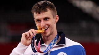 Vladislav Larin wins men's 80+kg gold, brings ROC total to four taekwondo medals in Tokyo