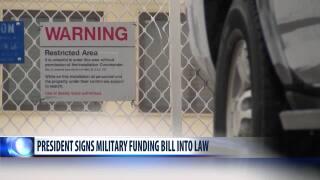 President Trump signs defense funding bill